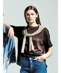 Mila Owen/Tシャツライクサテントップス/502948360