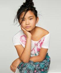 SISLEY YOUNG/アシンメトリーネックプリントTシャツ・カットソー/502941483