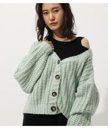 AZUL by moussy/VOLUME SHORT CARDIGAN/502949048