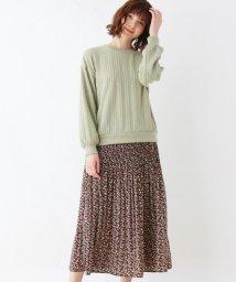 grove/【LLあり】ふくれケーブルプルオーバー+フラワープリーツスカートセット/502949627