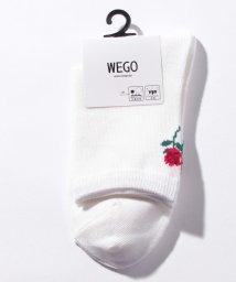 WEGO/バラバックプリントソックス/502811530
