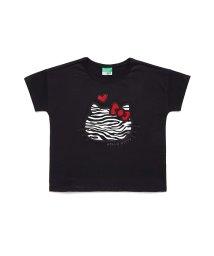 BENETTON (UNITED COLORS OF BENETTON GIRLS)/【ハローキティコラボ】キティサガラ刺繍ワイドTシャツ/502929752
