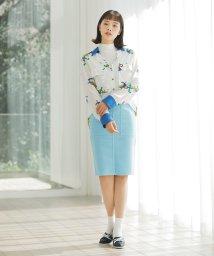BENETTON (women)/バックポケット刺繍ミディカットオフタイトスカート/502941632