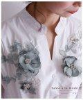 Sawa a la mode/立体的な花柄モチーフ刺繍の長袖ブラウス/502949719