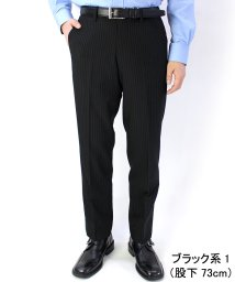 CITRUS HILLS/ノータック/裾上げ済み/ダブルストライプビジネススラックス/502950234