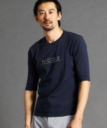 NICOLE CLUB FOR MEN/ロゴプリントカットソー/502932435