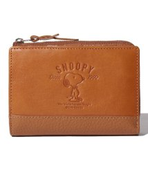 SNOOPY Leather Collection/SNOOPY/スヌーピー/蝶ネクタイ柄二つ折り財布/本革/502940275
