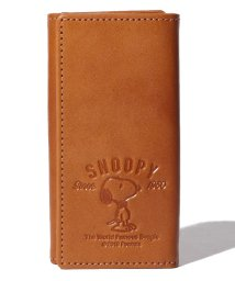 SNOOPY Leather Collection/SNOOPY/スヌーピー/蝶ネクタイ柄キーケース/本革/502940276