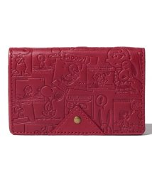 SNOOPY Leather Collection/SNOOPY/スヌーピー/ヴィンテージコミック柄名刺入れ/本革/502940279
