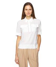 BENETTON (women)/フロントポケット裾シャーリングブラウス・シャツ/502941657