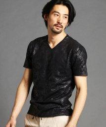 NICOLE CLUB FOR MEN/ボタニカル柄プリントTシャツ/502942771