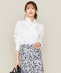 KUMIKYOKU/【洗える】JFストライプシャーティング ボウタイシャツ/502953804