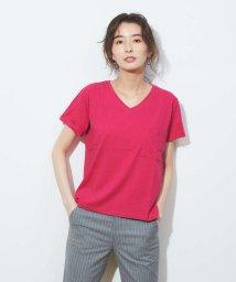 abahouse mavie/ecru 【汗染み防止】ポケット付きTシャツ/502953881