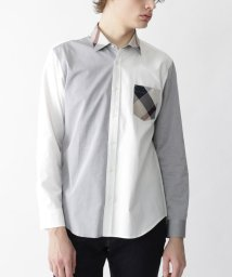 BLACK LABEL CRESTBRIDGE/パーシャルクレストブリッジチェックバイカラーシャツ/502954045