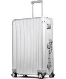tavivako/【PROEVO】 スーツケース アルミマグネシウム合金 L 大型 アルミニウムボディ キャリーバッグ キャリーケース 8輪 ストッパー 予備キャスター付属/502902081