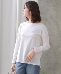 Gready Brilliant/綿天竺衿刺繍ボートフルTシャツ/502950877