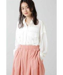 ROSE BUD/シアーワークポケットシャツ/502952505