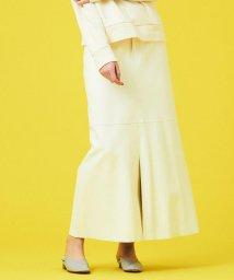 GALERIE VIE/ホワイトシープレザー 5ポケットロングスカート/502954789