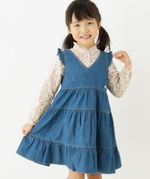 3can4on(Kids)/【90-140cm】ライトデニムティアードワンピース/502956299