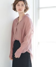 ROPE' PICNIC/【WEB限定】シアーバンドカラーシャツ/502959261