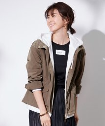 JIYU-KU(LARGE SIZE)/【洗える】メモリータッサー フード付きブルゾン/502959502