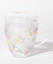 Afternoon Tea LIVING/水彩フラワー柄茶漉し付き耐熱マグカップ/502925680