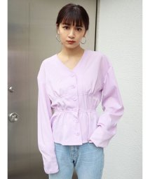 EMODA/カーブスリーブシェイプシャツ/502938264