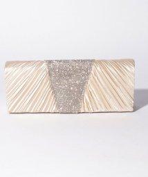 STYLEBLOCK/ラインストーン装飾プリーツパーティークラッチバッグ/502941214