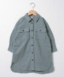 petit main/起毛 胸ポケットつきロングシャツ/502943616