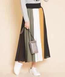 SCOTCLUB/FENNEL(フェンネル)配色パネルデザインスカート/502947029