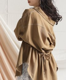 Bou Jeloud/【セットアップ対応商品】配色ステッチサファリシャツジャケット/502957963