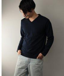 Nylaus/SKKONE フクレジャガード ネイティブ柄 Vネック ロングTシャツ/502959657