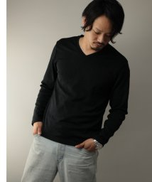 Nylaus/SKKONE フクレジャガード 迷彩柄 Vネック ロングTシャツ/502959658