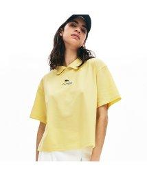 LACOSTELIVE LADYS/ボクシーフィット ジップカラーストレッチコットンピケポロシャツ/502959791