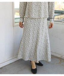 Avan Lily/LEONIE FLOWERゴアードスカート/502960127