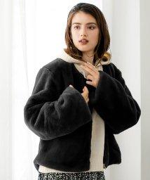 Julia Boutique/フェイクファーショートコート・ジャケット・アウター/510155/502960993