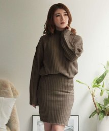 Julia Boutique/ハイネックリブニット&スカートセットアップ/510479/502960999
