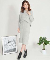 Julia Boutique/ラグランスリーブリブニットトップス&スカートセットアップ/510500/502961003