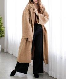 Julia Boutique/オーバーサイズボアロングコート・アウター/510513/502961007