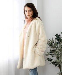 Julia Boutique/フェイクファーノーカラーコート・アウター/510517/502961010