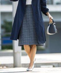 J.PRESS LADIES/【撥水加工・シワになりにくい】コットンナイロンドライチェック スカート/502962711