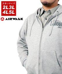 MARUKAWA/【AIRWALK】エアーウォーク 大きいサイズ リフレクタープリント 裏毛 フルジップパーカー/502927754