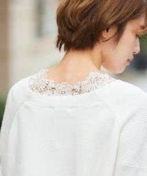 le.coeur blanc/バックモチーフレース長袖/502932468