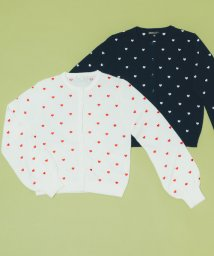 To b. by agnes b./WO77 CARDIGAN ハート刺繍カーディガン/502952823
