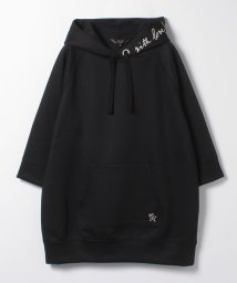 To b. by agnes b./WO59 HOODIE メッセージロングパーカー/502952829