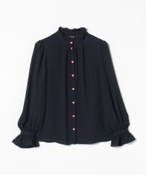 To b. by agnes b./WM51 CHEMISE ハート刺繍フリルブラウス/502952836