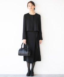 form forma/【喪服・礼服・セレモニー】オーバースカート付き セットアップブラックフォーマルスーツ/502952838