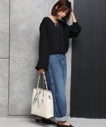 UNGRID bag/シンストリングフラップ縦長トート/502957660