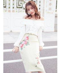 MIIA/ローズプリントタイトスカート/502961447