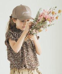 pairmanon/総柄 小花柄 半袖 シャーリング デザイン サマー ブラウス/502962231